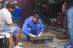 Tire repair shop, Havana, Cuba