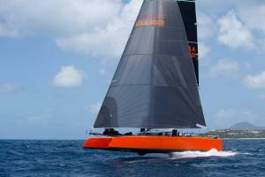G4 Foiling Cruiser/Racer Catamaran on trials April 2015